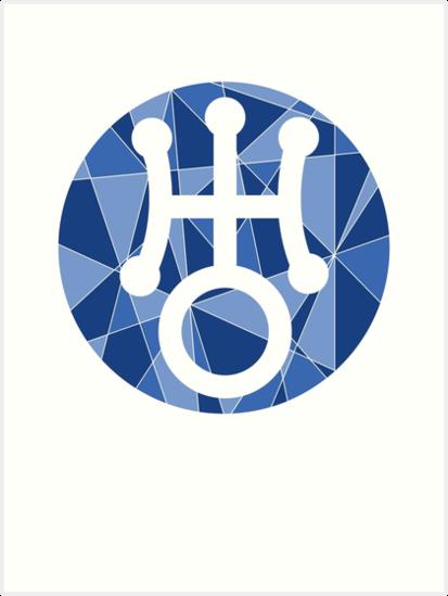 Uranus Symbol Art Prints By Dillon Finley Redbubble