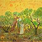 Olive Picking, Van Gogh art reproduction by naturematters