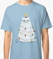 Mürrische Weihnachtskatze Classic T-Shirt