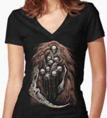 The Gravelord v.2 Women's Fitted V-Neck T-Shirt