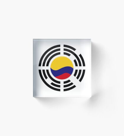 Korean Colombian Multinational Patriot Flag Series Acrylic Block