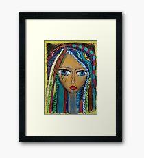 Girl with coloured hair Framed Print