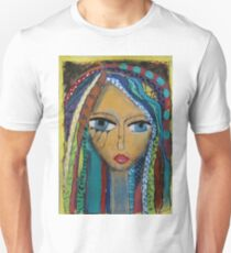 Girl with coloured hair Unisex T-Shirt