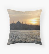 Sunsets in Istanbul Throw Pillow