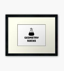 Geometry Rocks Framed Print