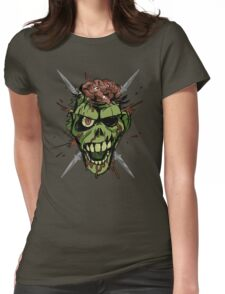 zombie graphic Womens Fitted T-Shirt