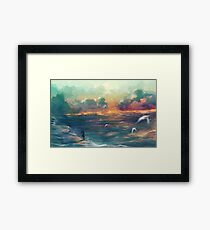 The girl who loved the sea Framed Print