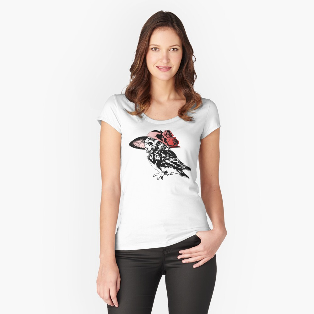 Owl Be Having All The Fun Tonight Fitted Scoop T-Shirt