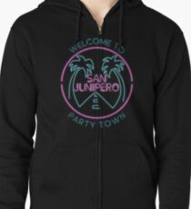 Party Town Zipped Hoodie