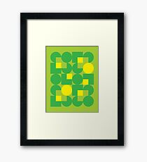 Green Modernist Pattern Framed Print