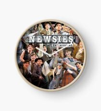 Newsies On Broadway Photo Collage Clock