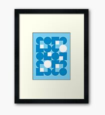 Blue Modernist Pattern Framed Print