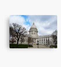 Wisconsin State Capitol Building - Madison, WI, USA Canvas Print