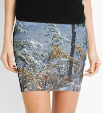 Snow in the Moutains of South Korea Mini Skirt