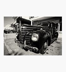 Retro Vintage Chrysler in Black and White Photographic Print