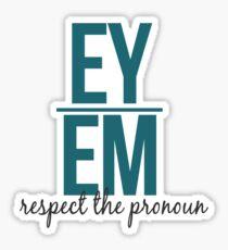 respect the pronoun - ey Sticker