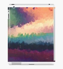 abstract expressionist landscape green iPad Case/Skin