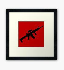 sniper rifle gun game Framed Print