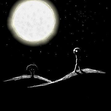 Moon Baby by feraldemon