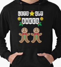 Let's Get Baked Ugly Christmas Sweater Lightweight Hoodie