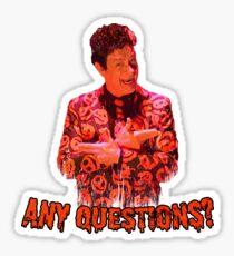 David S. Pumpkins - Any Questions? VI - Sticker Sticker