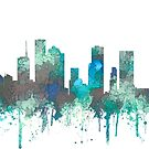 Houston, Texas Skyline - SG Dschungel von Marlene Watson