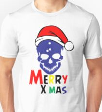 Merry XMAS skull - scary Christmas wish Unisex T-Shirt