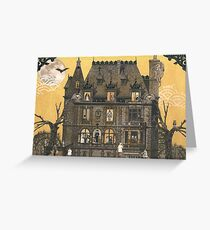 Moribund Manor - Haunted House Greeting Card