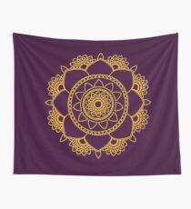 goldener Mandala Wandbehang