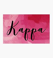 Kappa Photographic Print