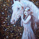 White Horse Beauty III by Tahnja