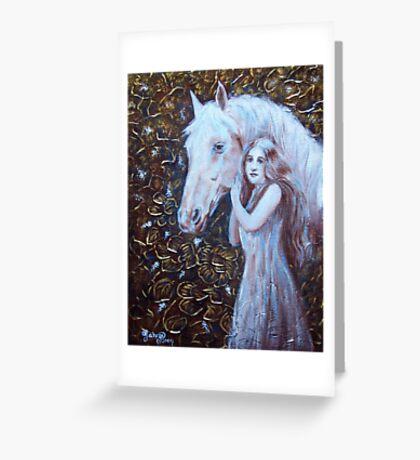 White Horse Beauty III Greeting Card