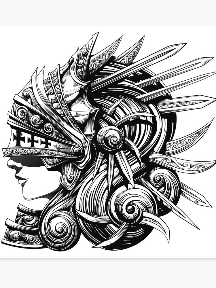 Woman Paladin - Epic Draw | Canvas Print