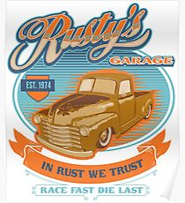 RUSTY GARAGE Poster