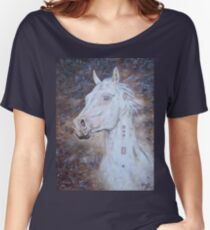Habib Shael -- Akhal Teke Stallion Women's Relaxed Fit T-Shirt