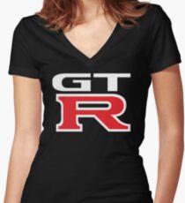 Camiseta entallada de cuello en V NISSAN GTR