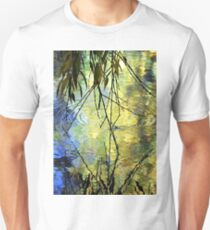 Blue Yellow Willow Water Unisex T-Shirt