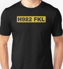 H982 FKL License plate Unisex T-Shirt