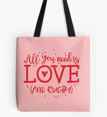 All you need is love and RUGBY Tote Bag