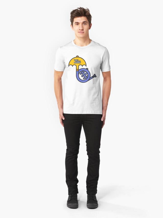 Alternative Ansicht von Blaues Horn / gelber Regenschirm Wie ich deine Mutter getroffen habe Slim Fit T-Shirt