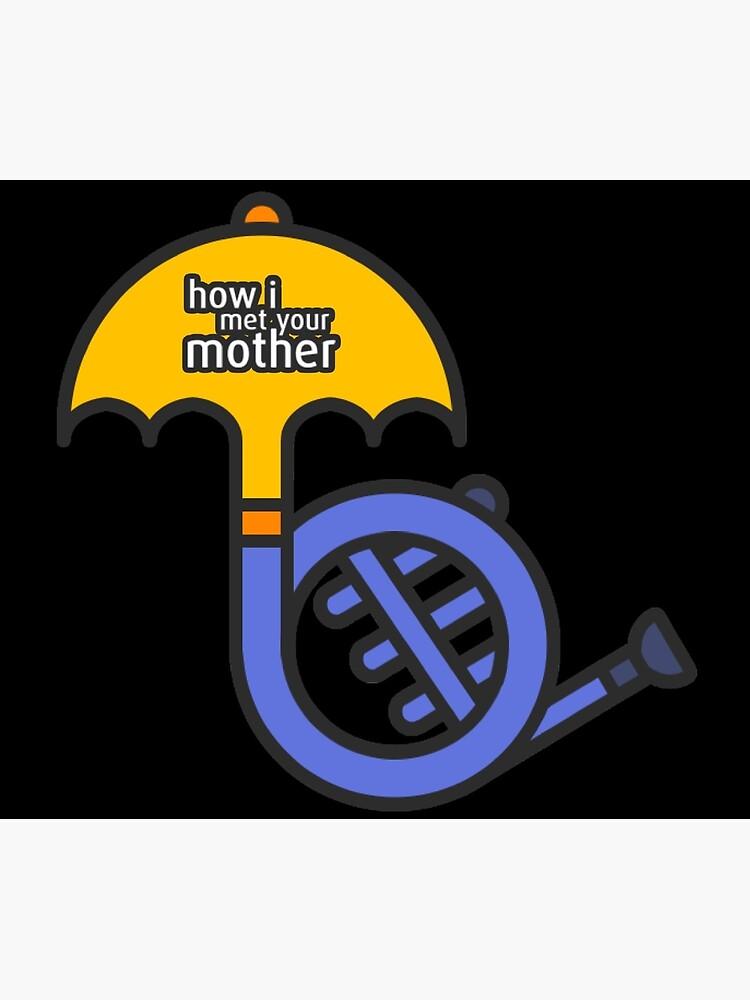 Blaues Horn / gelber Regenschirm Wie ich deine Mutter getroffen habe von HIMYM-EAFAM