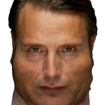 Mads Mikkelsen Face Throw Pillow by Shappie112