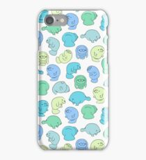 Manatee Party - Teals iPhone Case/Skin