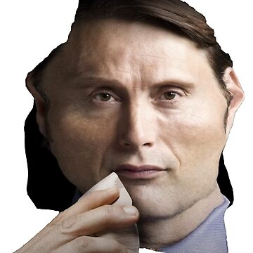 Mads Mikkelsen / Hannibal Lecter Face Throw Pillow II by Shappie112