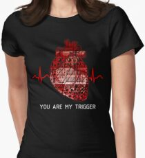 You Are My Trigger (White) Women's Fitted T-Shirt