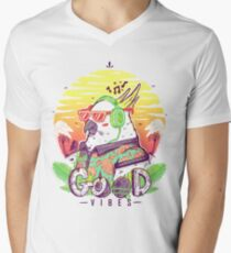 Polly Wants Some Good Vibes! Men's V-Neck T-Shirt