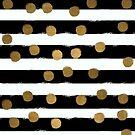 Golden Dotty Stripe by lollylocket