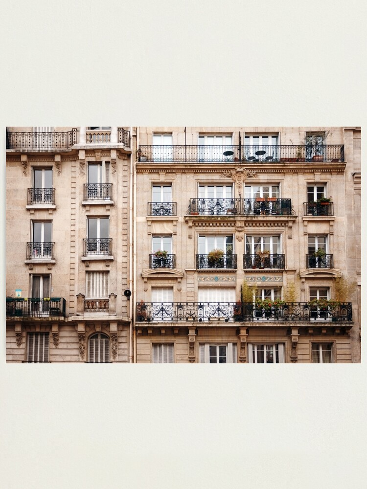 Alternate view of Traditional French Architecture Photographic Print