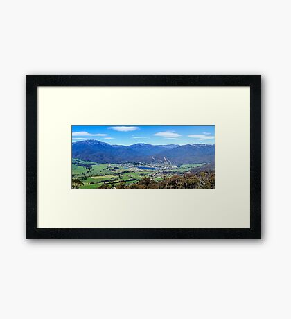 Mount Beauty Panorama Framed Print