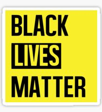 Black Lives Matter (Yellow) Sticker